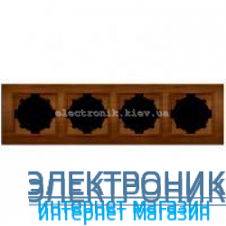 Рамка 4-я EL-BI Zena Woodline Вишня