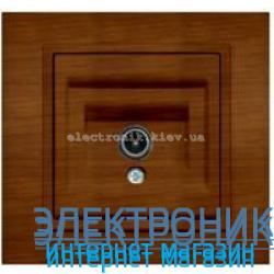 Механизм Розетка телевизионная EL-BI Zena Woodline Вишня
