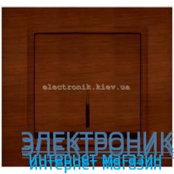 Механизм Выключатель с подсветкой EL-BI Zena Woodline Темный орех