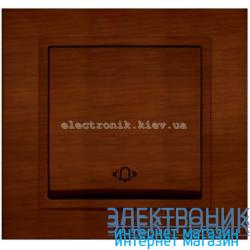 Механизм кнопка звонка EL-BI Zena Woodline Темный орех
