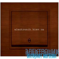 Механизм Выключатель проходной EL-BI Zena Woodline Темный орех