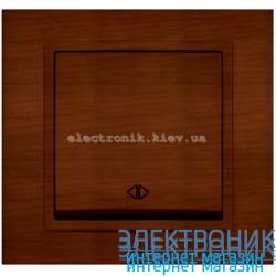 Механизм Выключатель реверсивный EL-BI Zena Woodline Темный орех