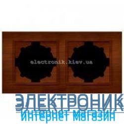Рамка 2-я EL-BI Zena Woodline Темный орех