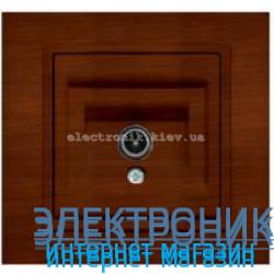 Механизм Розетка телевизионная EL-BI Zena Woodline Темный орех