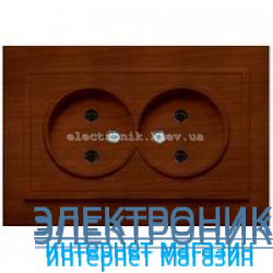 Розетка 2-я EL-BI Zena Woodline Темный орех