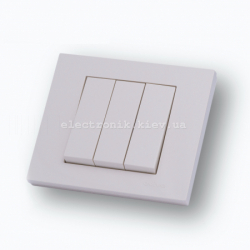 Выключатель трехклавишный Grano крем