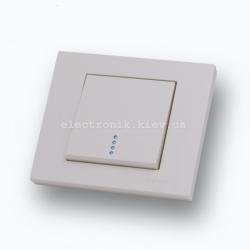 Выключатель одноклавишный с подсветкой Grano крем