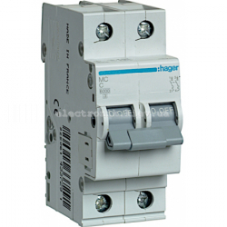 Выключатель автоматический Hager 2P C 6А MC206A