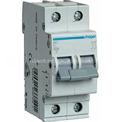 Выключатель автоматический Hager 2P C 63А MC263A