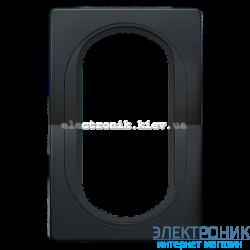 Рамка для 2-й розетки Aling Conel EON черный-черный