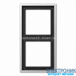 Рамка двухместная JUNG LS990 алюминий