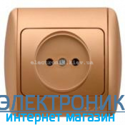 Розетка без заземления матовое золото EL-BI Zirve Silverline