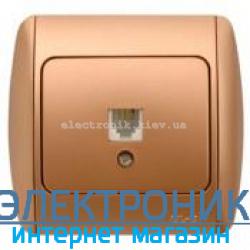 Розетка одинарная телефонная RJ11 матовое золото EL-BI Zirve Silverline