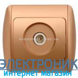 Розетка TV конечная матовое золото EL-BI Zirve Silverline