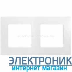 Рамка на 2 поста, белый - Legrand Etika