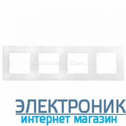 Рамка на 4 поста, белый - Legrand Etika