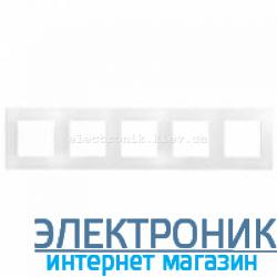 Рамка на 5 постов, белый - Legrand Etika