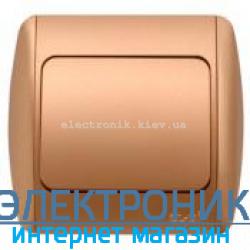 Выключатель 1-клавишный проходной матовое золото EL-BI Zirve Silverline