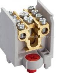 Клемма 1-полюсная, 4 отвода, сечение до 16/25мм2, размер 40x44x44мм Hager