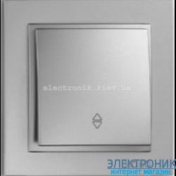 Выключатель 1 клавишный проходной Despina серебро