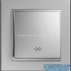 Выключатель  промежуточный (крестовой) Despina серебро