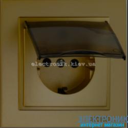 Розетка с заземлением и крышкой Despina бронза