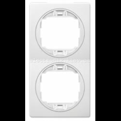 Рамка 2-ая вертикальная Aling Conel EON белый-белый