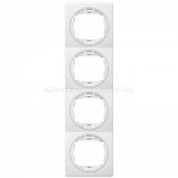 Рамка 4-ая вертикальная Aling Conel EON белый-белый