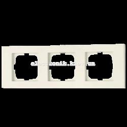 Рамка тройная Grano крем