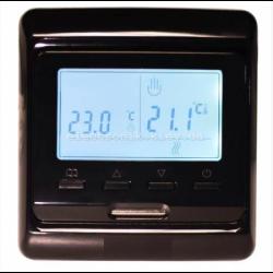 Программируемый терморегулятор для теплого пола IN-TERM E51 черный