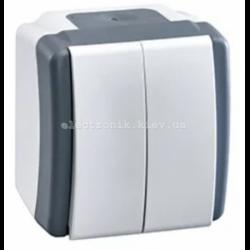 Выключатель двухклавишный, Mono electric, OCTANS IP54