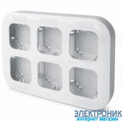 Установочный блок на 6 постов, наружный, белый - Legrand Forix