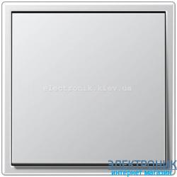 Выключатель одноклавишный JUNG LS990 алюминий