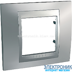Рамка 1-я Schneider Electric Unica Top Матовый хром/Алюминий