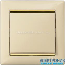 Рамка однопостовая Legrand Valena (слоновая кость/золотой штрих)