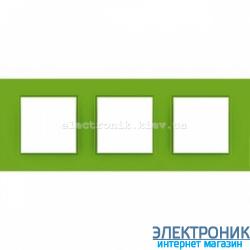 "Рамка трехместная Schneider Electric Unica Quadro ""Natura"" Bio"