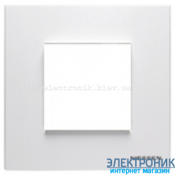 Рамка 1 пост ABВ Zenit белый