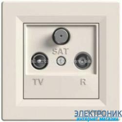 Розетка Schneider (Шнайдер) Asfora TV-SAT кремовая