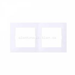 Рамка MERTEN M-PURE двойная активно-белый