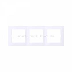 Рамка MERTEN M-PURE тройная активно-белый