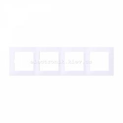 Рамка MERTEN M-PURE четверная активно-белый