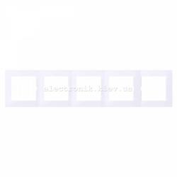 Рамка MERTEN M-PURE пятерная активно-белый