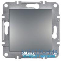 Переключатель Schneider (Шнайдер) Asfora Plus 1-клавишный перекрестный сталь