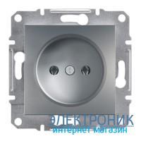 Розетка Schneider (Шнайдер) Asfora Plus без заземления сталь