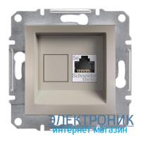 Розетка Schneider-Electric Asfora Plus компьютерная RJ45 кат. 5е UTP бронза