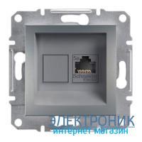 Розетка Schneider (Шнайдер) Asfora Plus компьютерная RJ45 кат. 5е UTP сталь