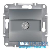 Розетка Schneider (Шнайдер) Asfora Plus TV концевая (1 дБ) сталь
