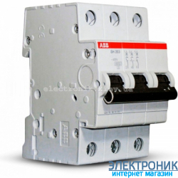 Автоматический выключатель ABB C50А 3p 6кА