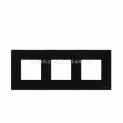 Рамка тройная ABВ Zenit черное стекло