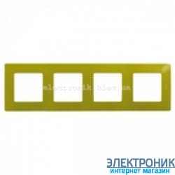 Рамка 4-х постовая Legrand Etika (зеленый папоротник)